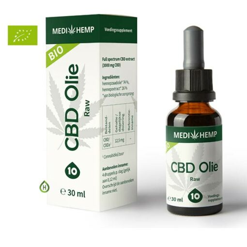 CBD Olie Raw 10% 30ml
